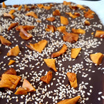 Mango & Toasted Sesame Vegan Creamy Chocolate Slab