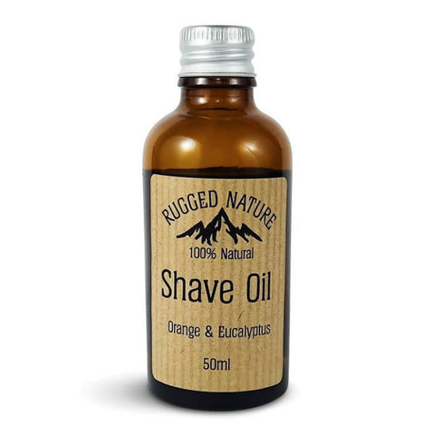 Rugged Nature 100% Natural Shave Oil, Orange and Eucalyptus - 50ml