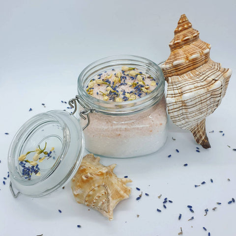 Night night – Luxury Organic Secret Bath Salt in glass jar (500 g)