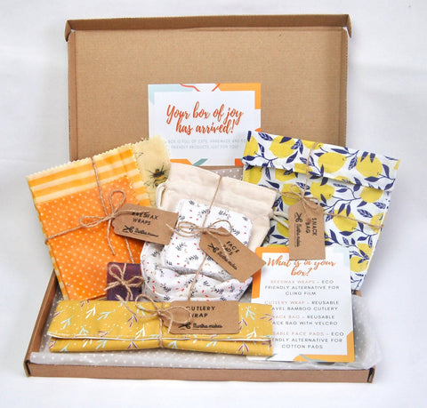 Eco friendly Handmade Gift Starter Box with Snack Bag