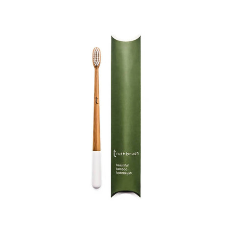 Truthbrush Cloud White Soft or Medium Bamboo Toothbrush
