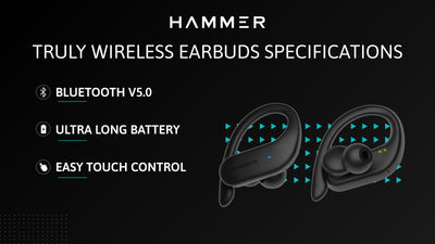Hammer Truly Wireless Earbuds Specification