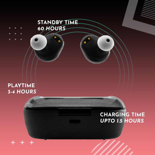 truly wireless bluetooth earbuds with long battery life