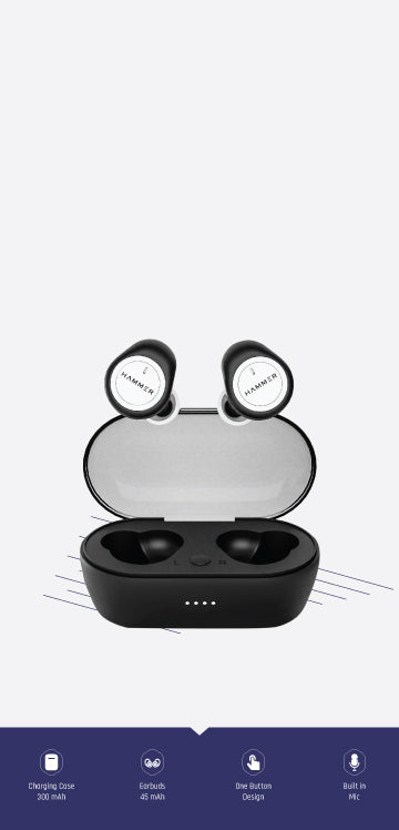 Hammer airflow true wireless earbuds with button controls