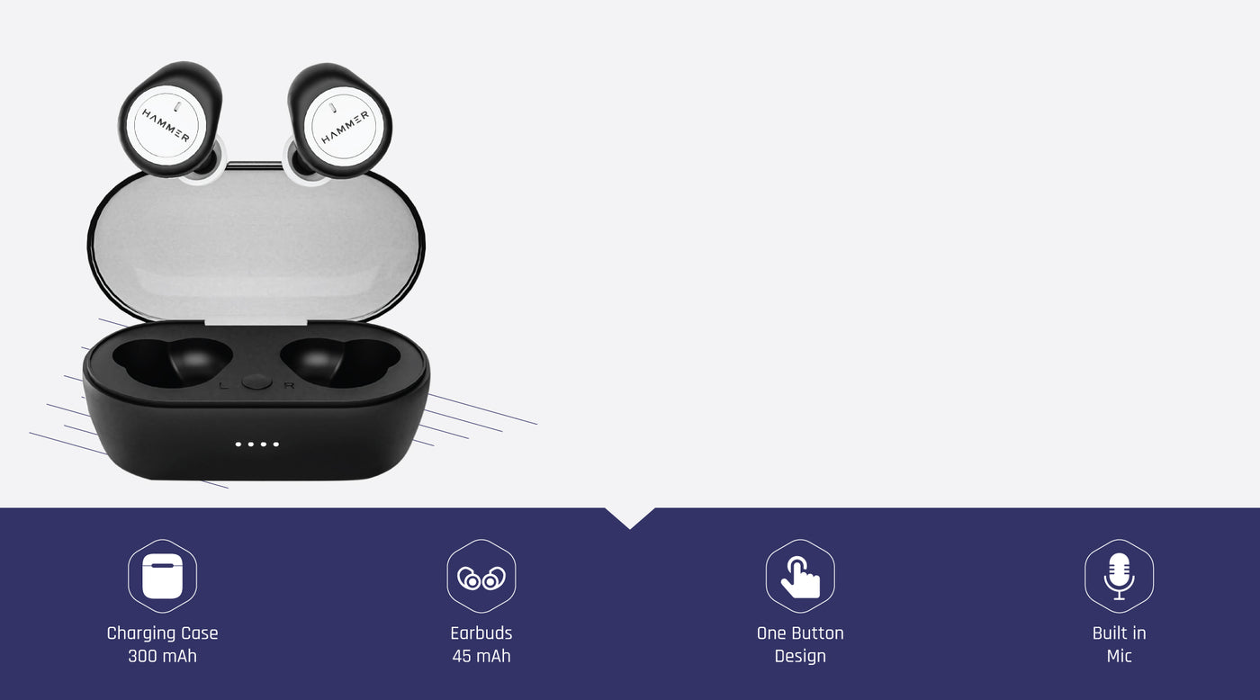 hammer airflow best truly wireless earbuds with button controls