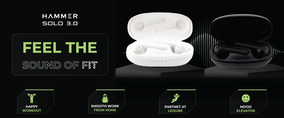 hammer solo 3.0 truly wireless earbuds