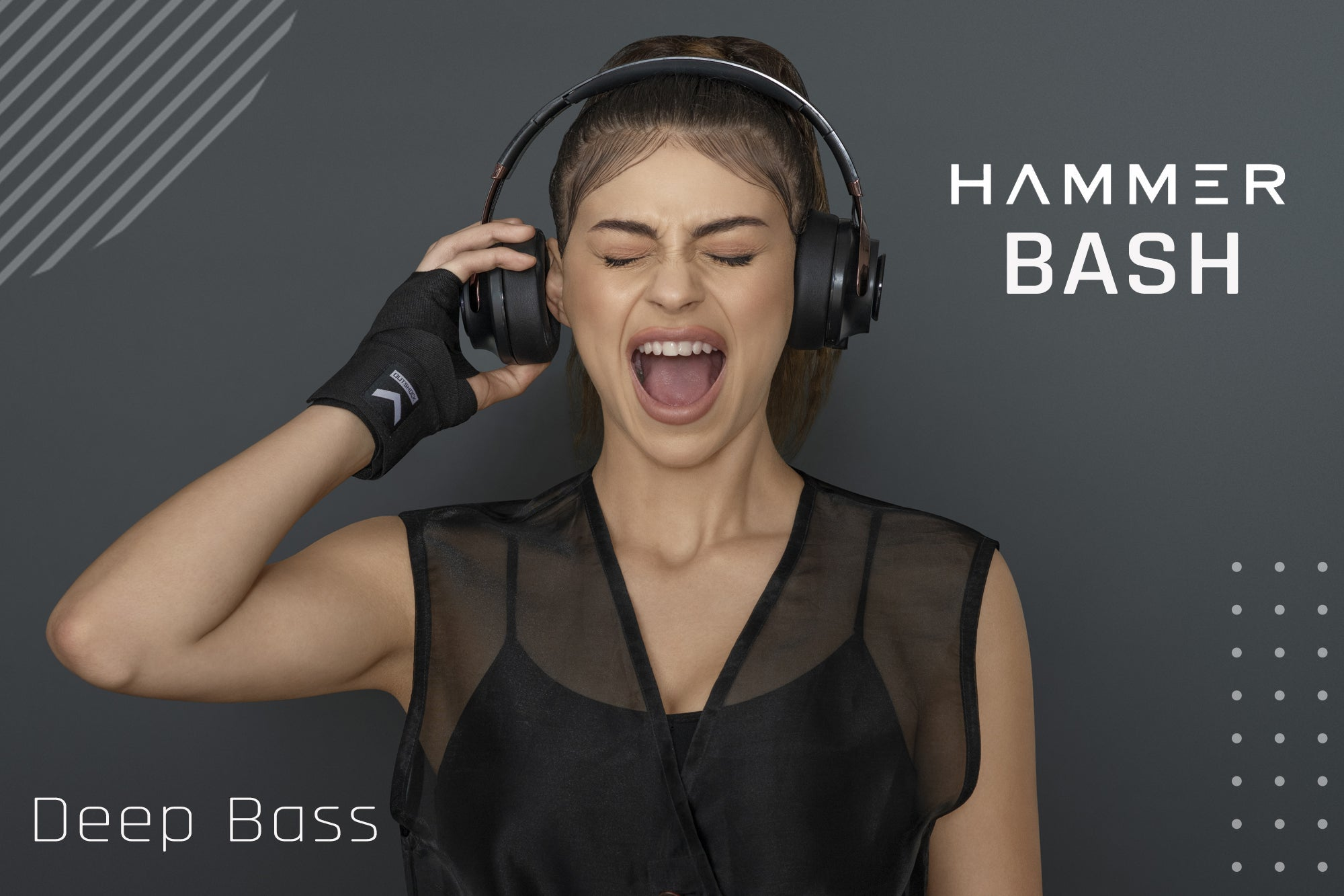 hammer bash over the ear wireless bluetooth headphone with deep bass