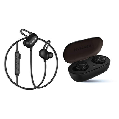 Hammer True wireless earbuds and earphones combo
