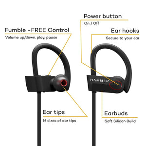Hammer Zest-H Wireless Sports Earphones