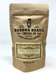 Buddha Beans - Hemp Infused Coffee - Decaf - Colombia