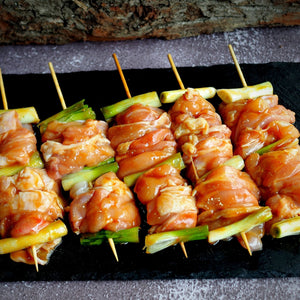miso chicken skewers