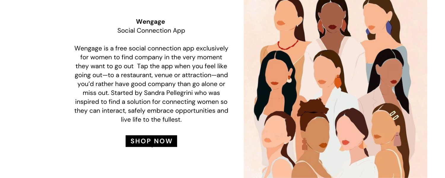 Wengage social connecting app for women