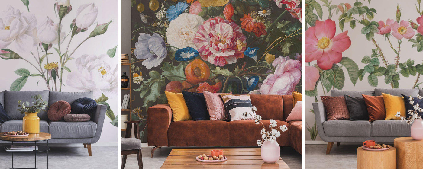 Painted Floral Wall Murals - Eazywallz