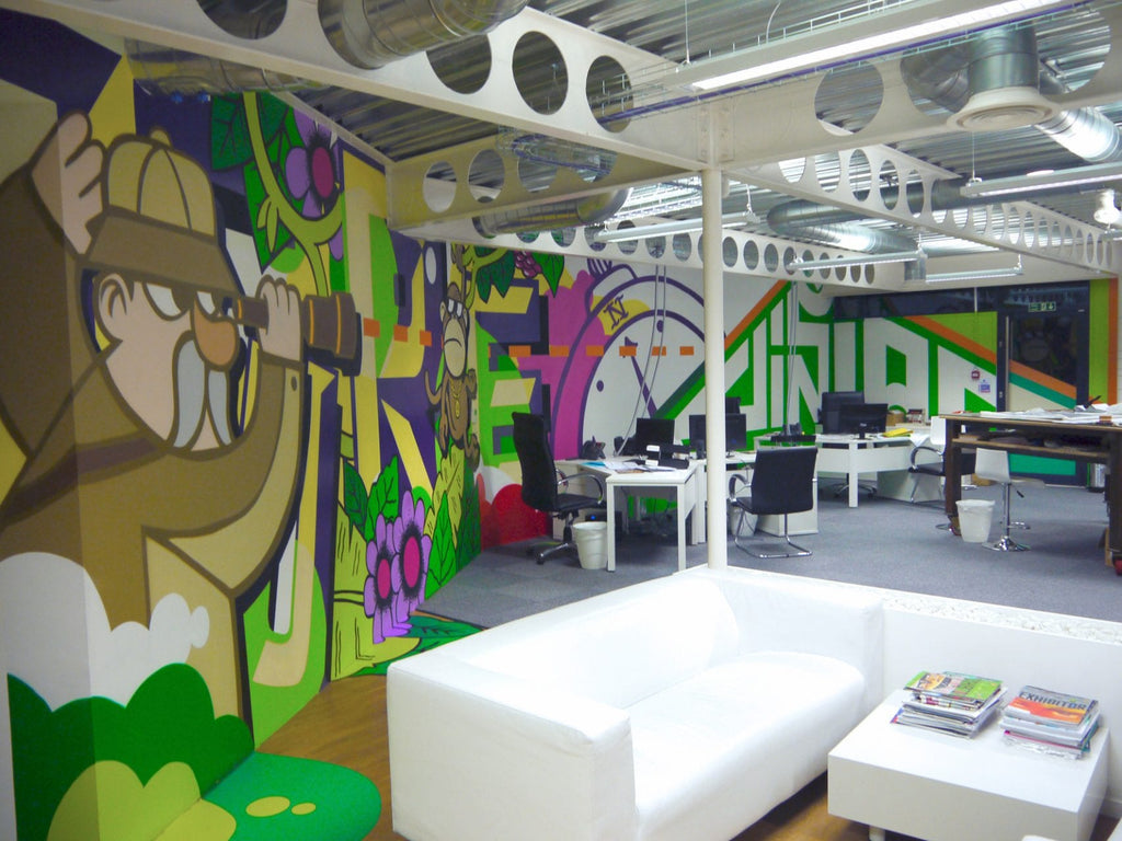 Wall Murals for businesses boardroom skyline eazywallz