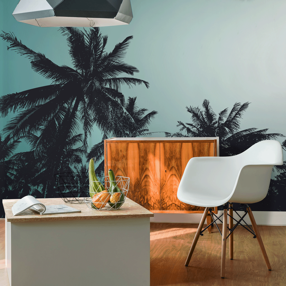 palm tree wall decor summer wall mural
