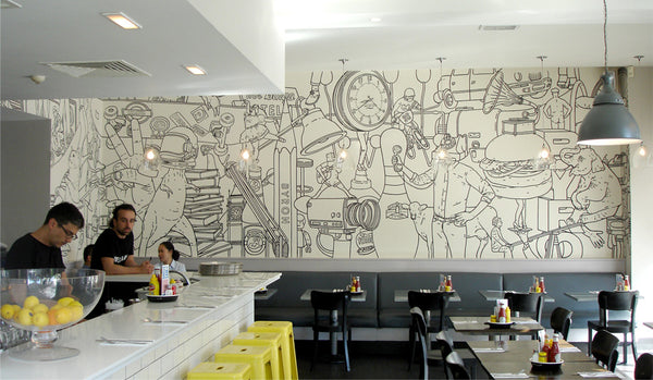 Wall Mural Ideas For Modern Café And Restaurant Design