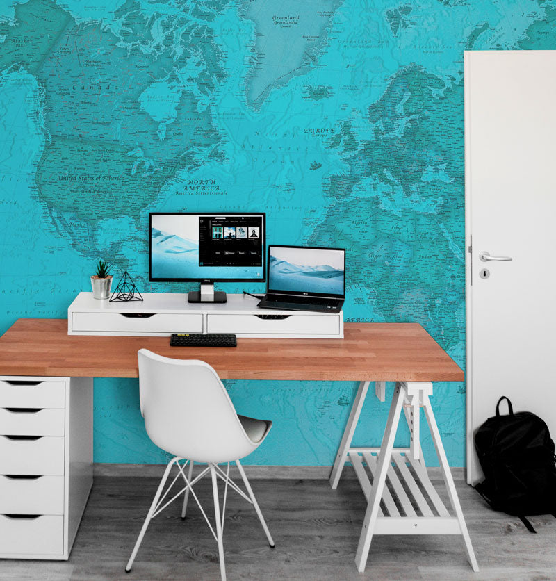 Wall Murals for office wallpaper for office map world map eazywallz