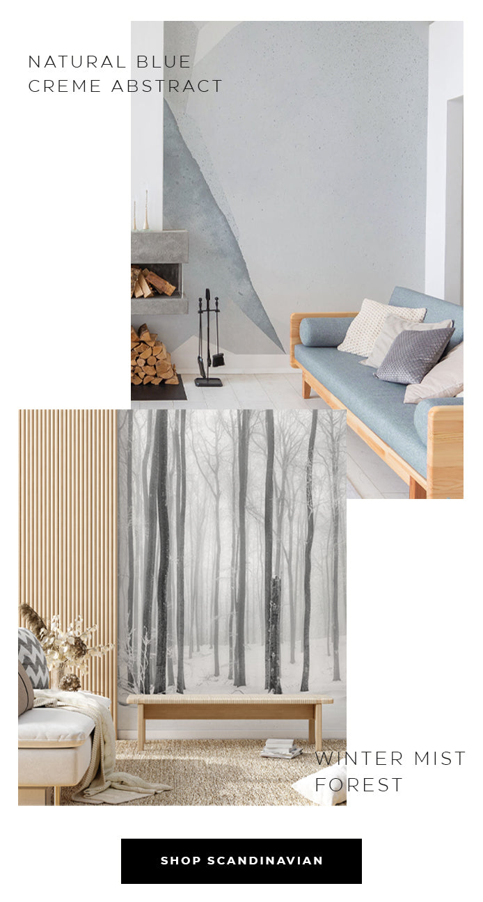 minimal style home decor and wall murals