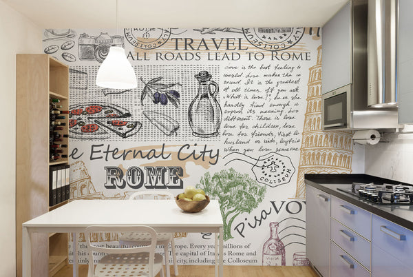12 Wall Mural Looks To Transform Your Kitchen Into Something