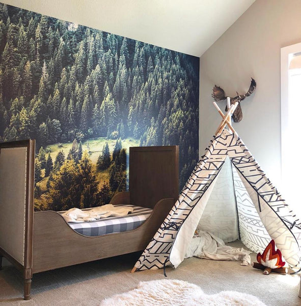 forest wallpaper for children kids wall murals eazywallz