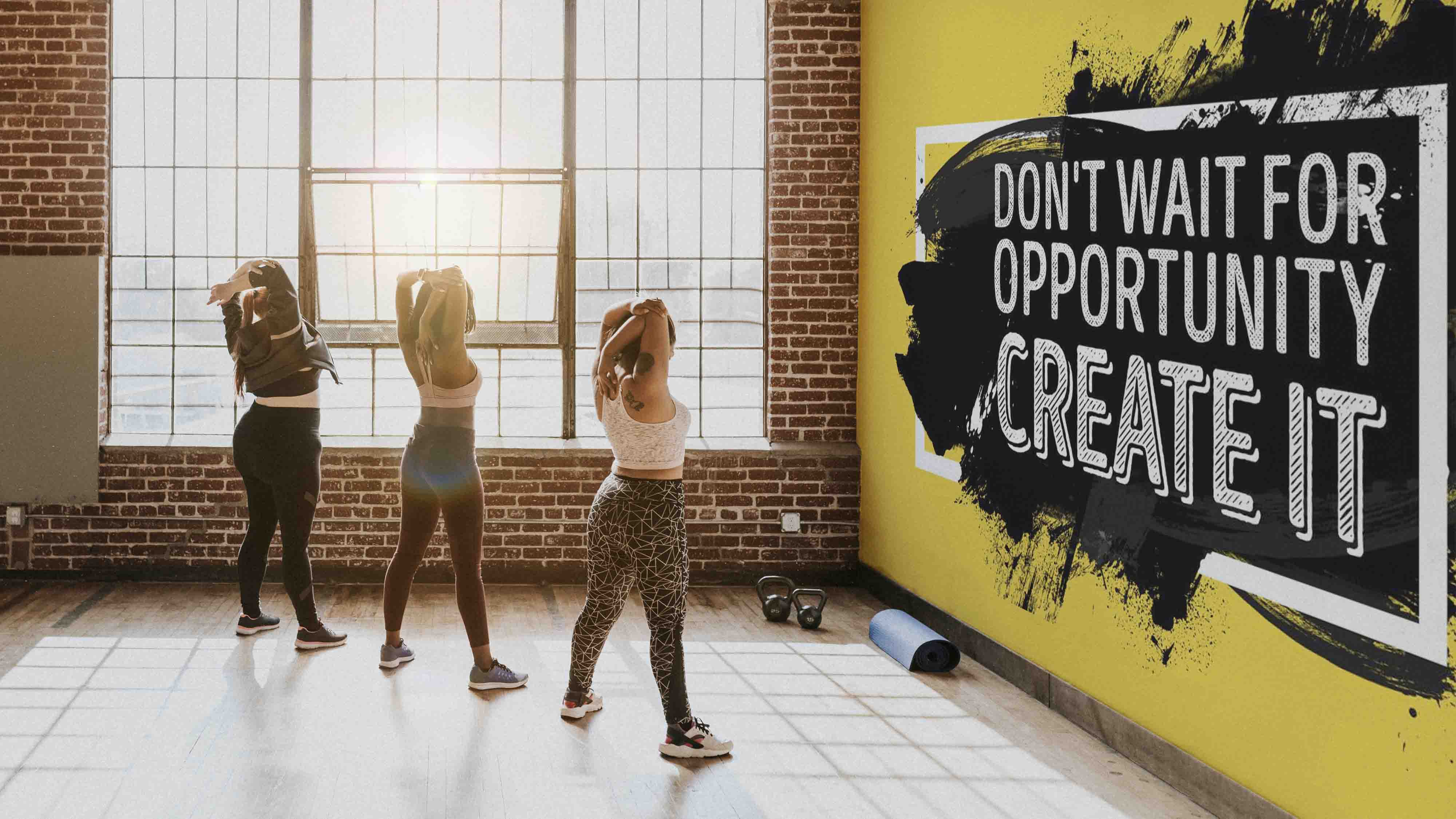 gym wallpaper and murals for gyms