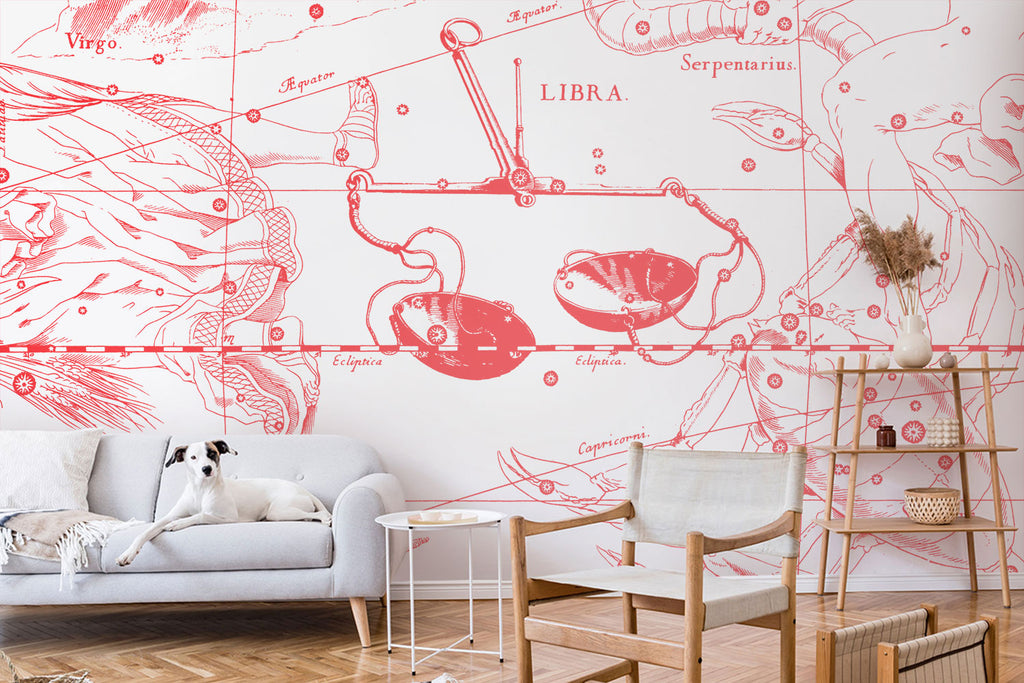 Zodiac astrology sign libra wallpaper and wall mural