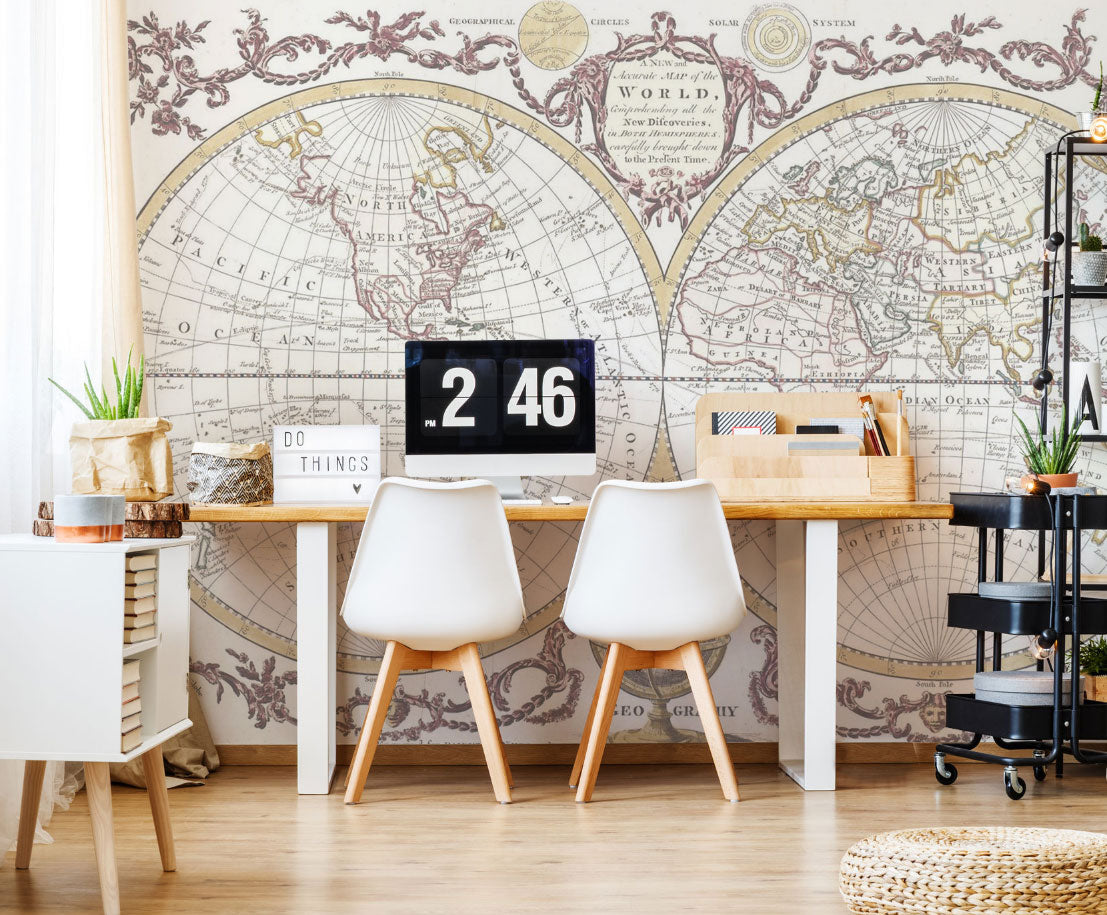home office world. Home Office Wall Murals World U