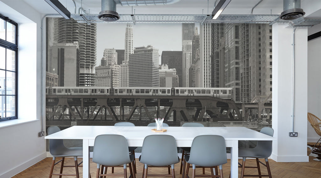 Industrial style eazywallz wall murals