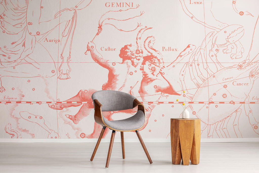 Zodiac astrology sign gemini wallpaper and wall mural