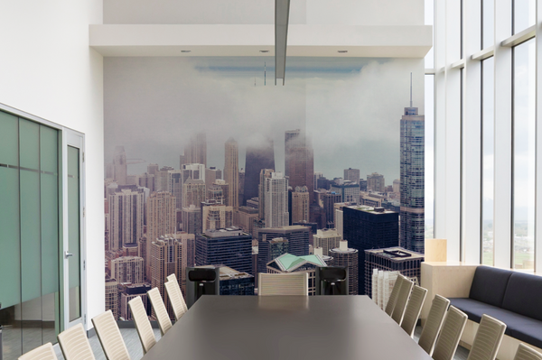 Business Wall Mural Corporate eazywallz decor idea