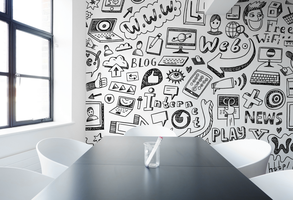 business wall mural innovate idea design corporate