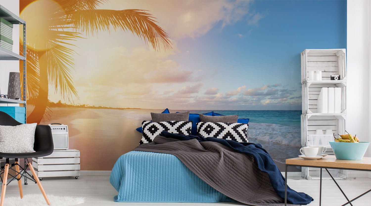 tropical wall murals beach wall murals eazywallz beach tropical wall murals