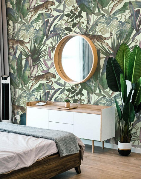 animal print wallpaper for bedroom