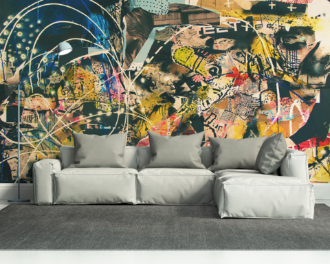 greaffiti art wall mural