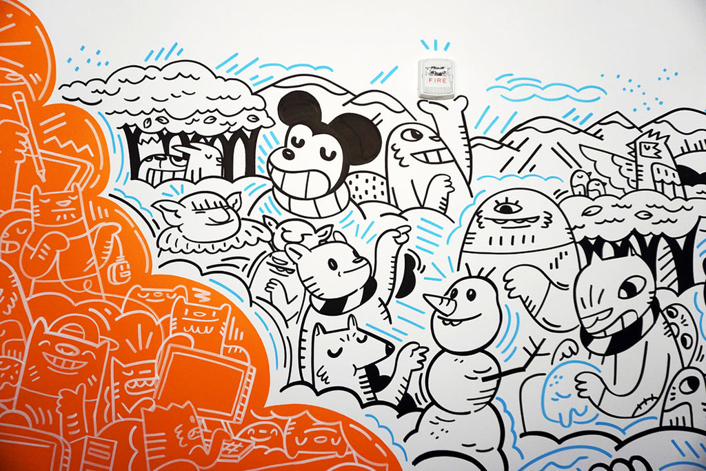 removable wallpaper graffiti doodle behance