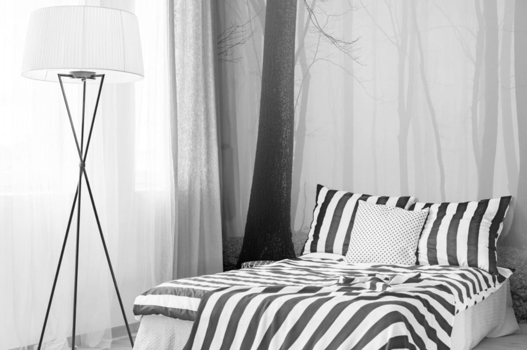 forest black and white forest wallpaper wall mural