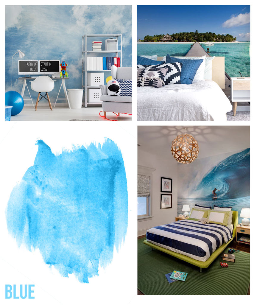 blue skies and clouds wallpaper wall murals