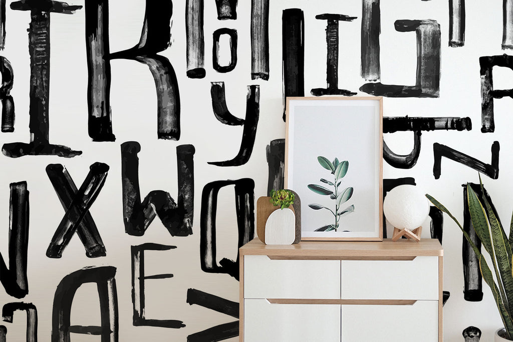 brush type wallpaper mural