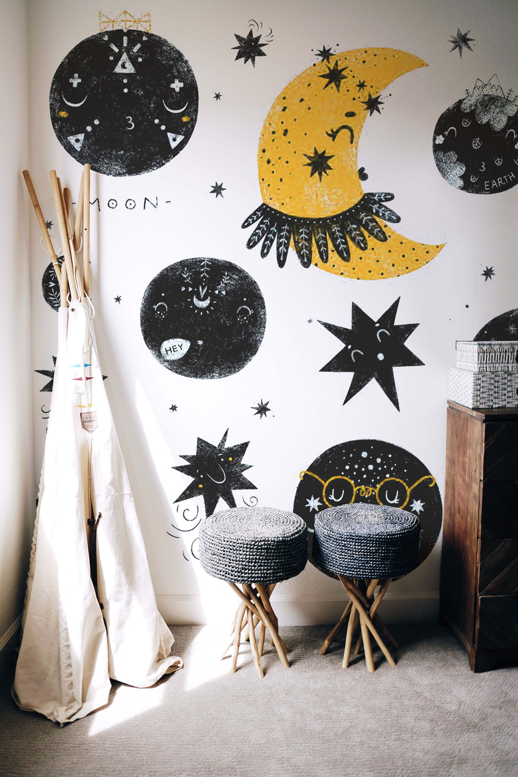 childrens outer space wallpaper mural