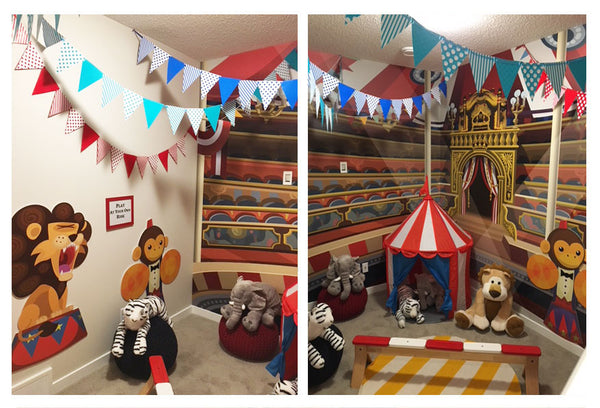 circus wall murals for kids and children wallpaper
