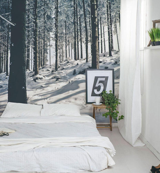 winter scene wallpaper nature murals for your home