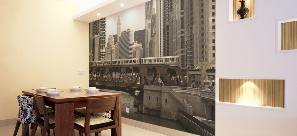 dining room wall murals eazywallz