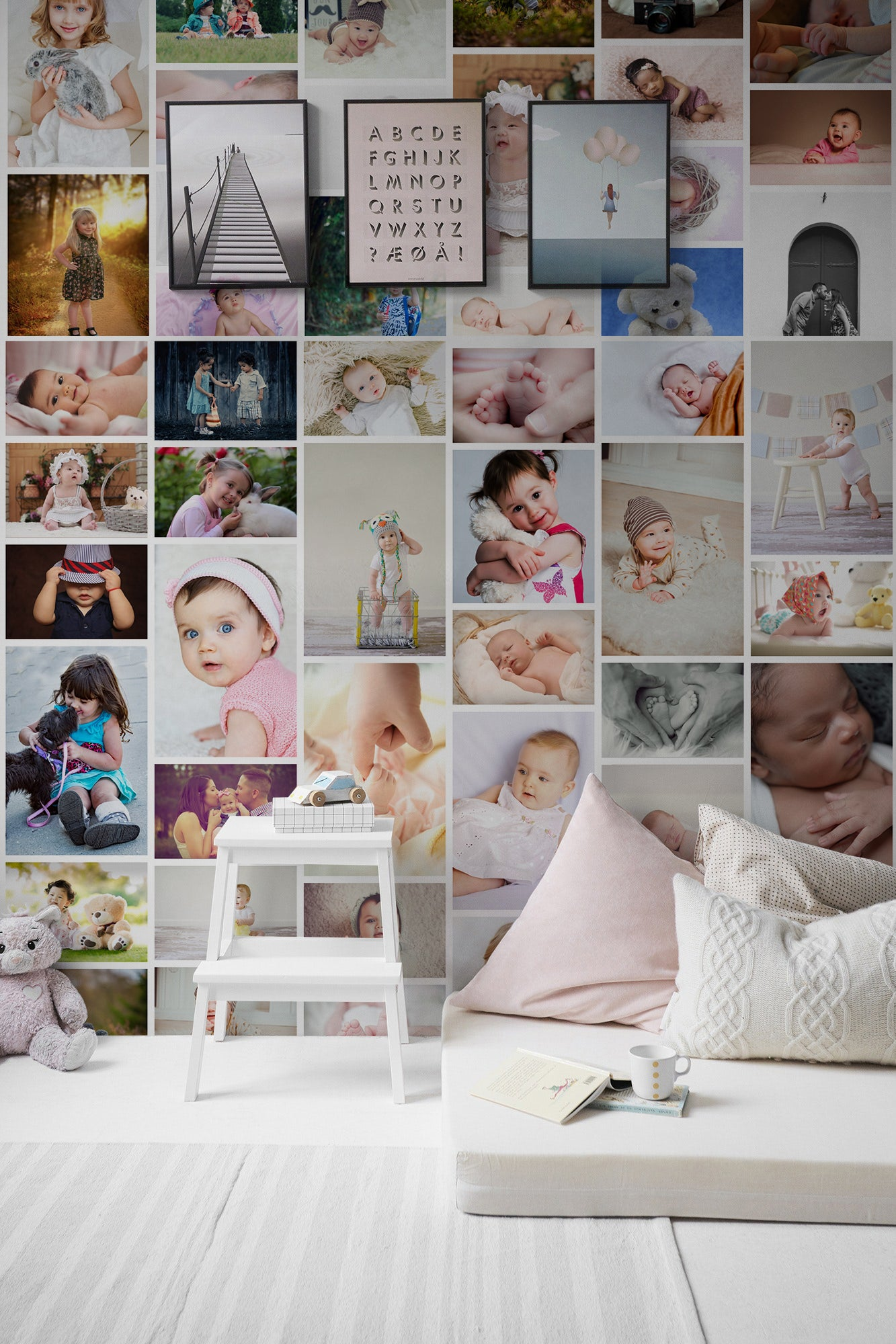 Collage Custom Wall Mural peel and stick Wallpaper