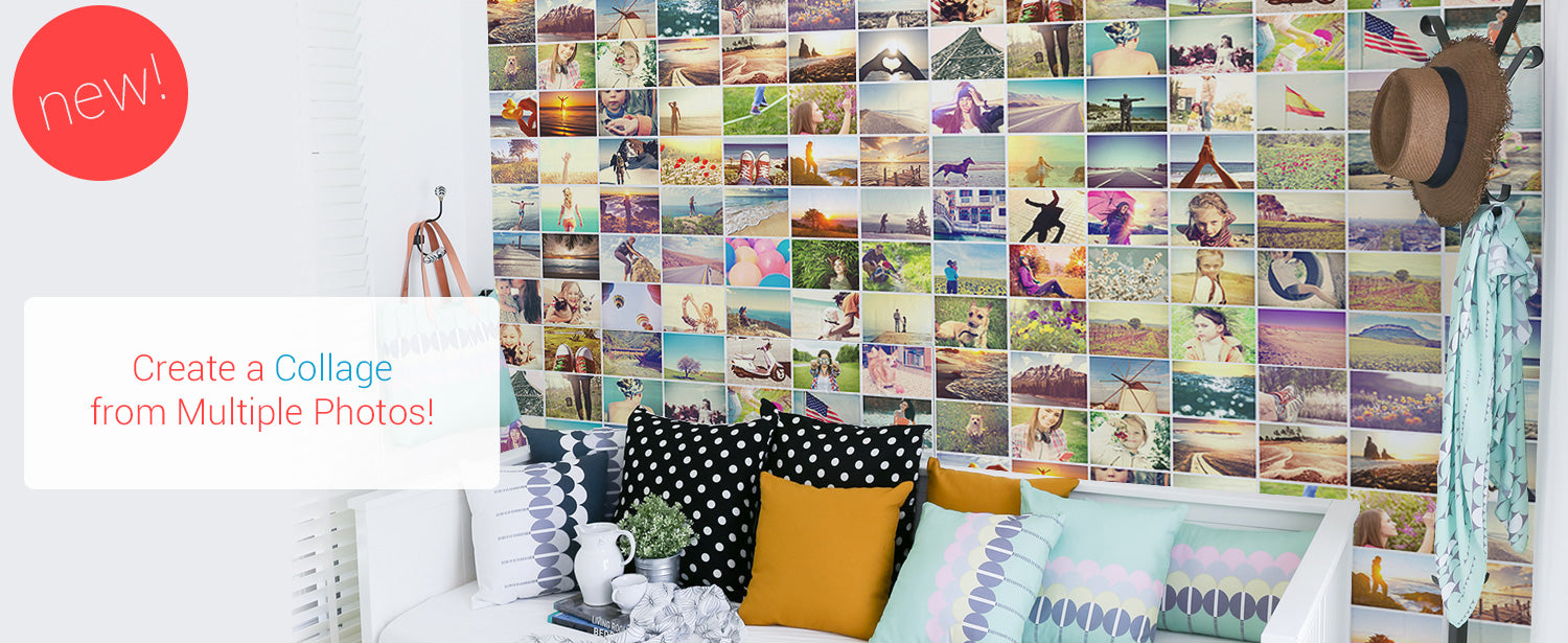 Create a collage mural custom wall murals eazywallz for Create a wall mural