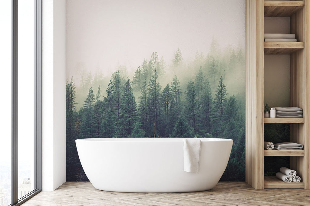 bathroom wall mural