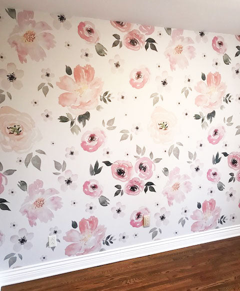 flower kids room children bedroom wallpaper mural ideas
