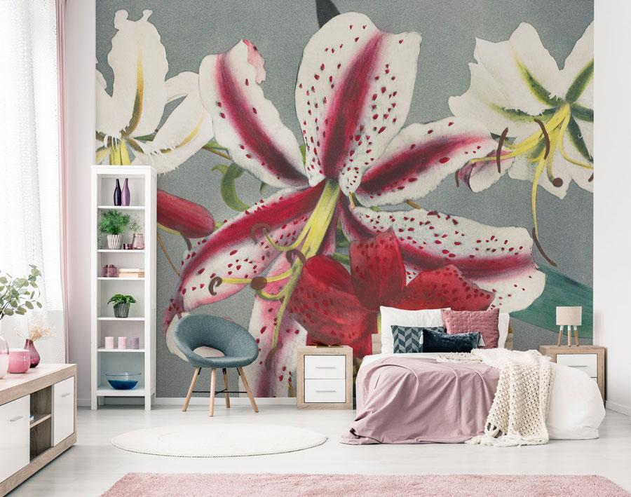 JAPANESE FLOWERS MURAL WALLPAPER