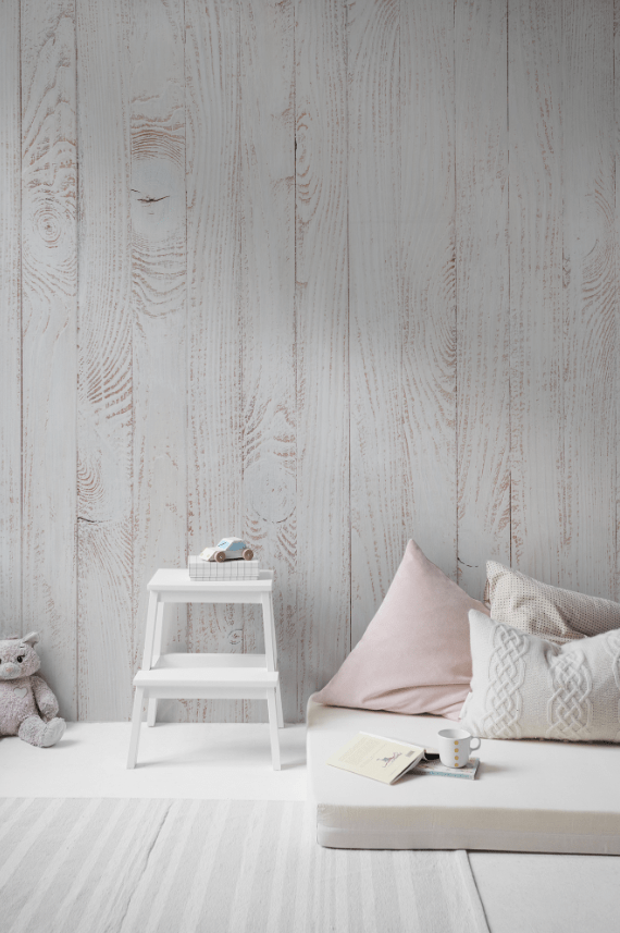 wood planks wall mural