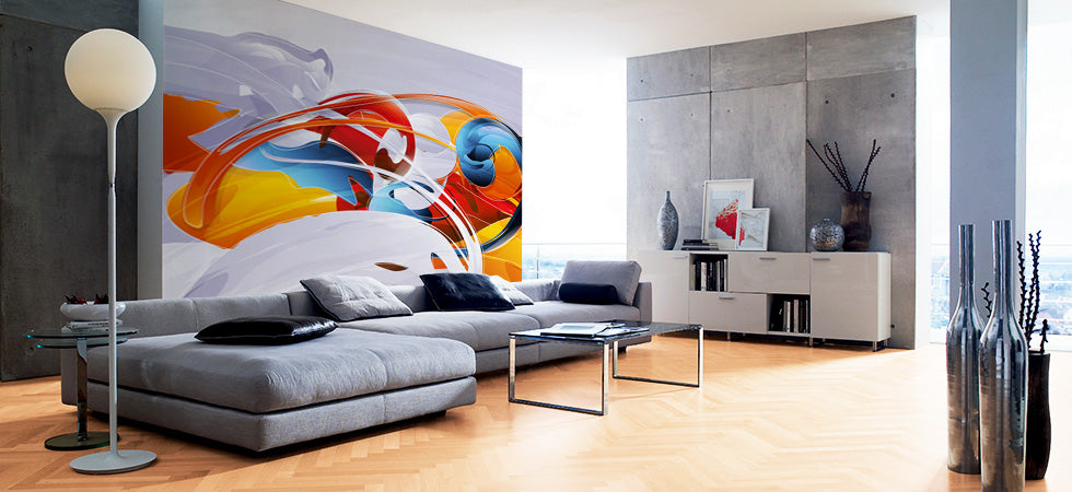 Modern wall murals modern wall coverings eazywallz for Designer wallpaper mural