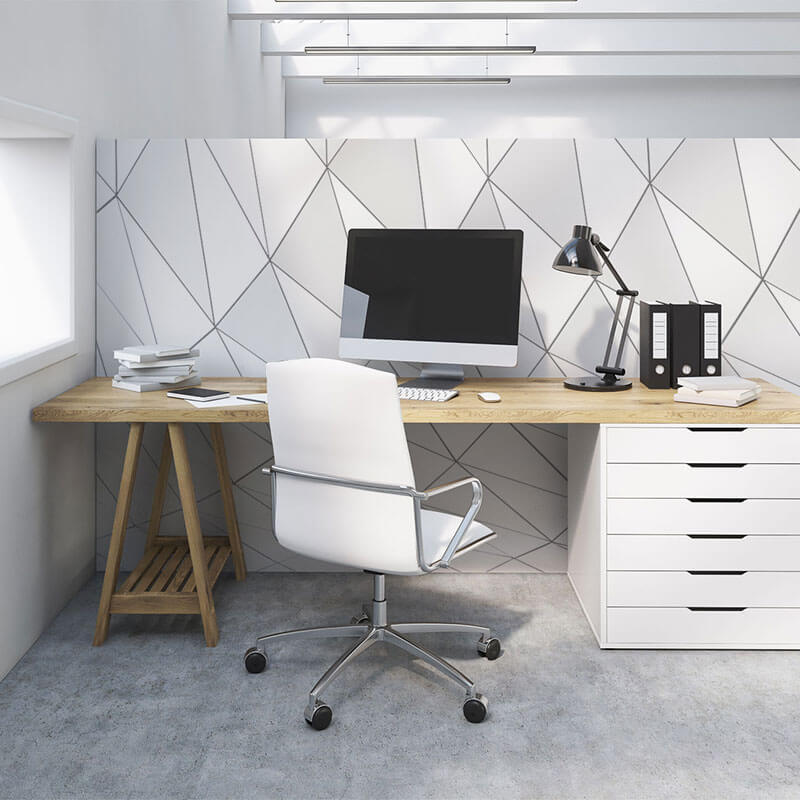 Modern wall mural in working space